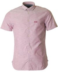 BOSS by Hugo Boss - Cattitude 1 Slim Fit Oxford Shirt - Lyst