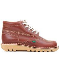 Kickers | Kick Hi Leather Boots | Lyst