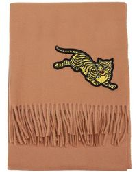 KENZO - Jumping Tiger Scarf - Lyst