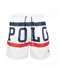 Polo Ralph Lauren Polo Sport Swim Shorts - White