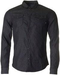 Armani Jeans - Long Sleeved Denim Shirt - Lyst