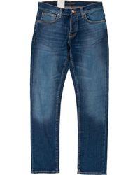 Nudie Jeans Grim Tim Slim Fit Jeans - Blue