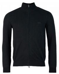BOSS by Hugo Boss Palano Full Zip Through Sweater - Black