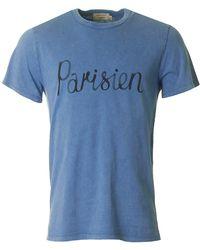 Maison Kitsuné - Parisien Print Short Sleeved - Lyst