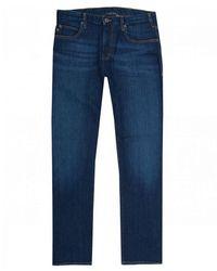 Armani J45 Regular Tapered Fit Jeans - Blue