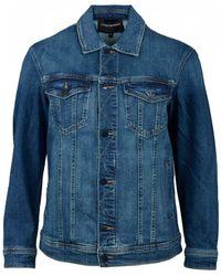 Emporio Armani Oversized Denim Jacket - Blue