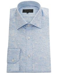 1 Like No Other - Floral Jacquard Shirt - Lyst