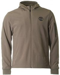 Timberland - Soft Shell Zip Through Hooded Jacket - Lyst