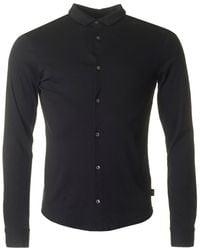 Armani Jeans - Slim Fit Button Through Shirt - Lyst