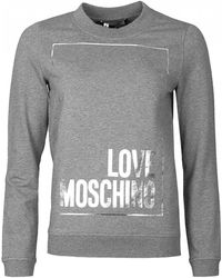 Love Moschino - Boxed Logo Jumper - Lyst