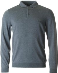 BOSS Black - Bono 1 Long Sleeved Knitted Polo - Lyst