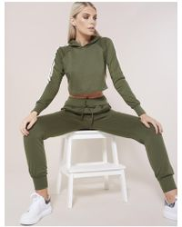 Public Desire Khaki Side Stripe Co-ord - Green