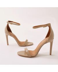 Public Desire - Avril Barely There Heels In Nude - Lyst
