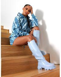Public Desire Amber X Tie Dye Oversized Hoodie Co-ord Blue