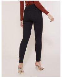 Public Desire Black Superstretch High Waisted Skinny Jeans