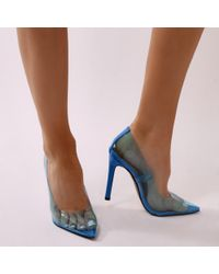 Extra clear court shoes in blue - Blue Public Desire OEd0RpT
