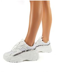 Public Desire Hummer White Chunky Sole Trainers