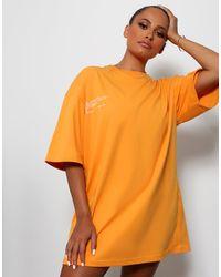 Public Desire Amber X Graphic Oversized Tshirt Dress - Multicolour