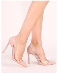 26abdc139db Dorothy Perkins · Public Desire - Potion Perspex Court Heels In Blush  Patent - Lyst