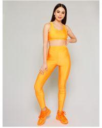 Public Desire Neon Orange Crop Top And Legging Set