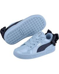 PUMA - Basket Bow Patent Baby's Sneakers - Lyst