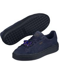 37a59aede3a2fd PUMA - Suede Platform Gem Wn s Low-top Sneakers - Lyst