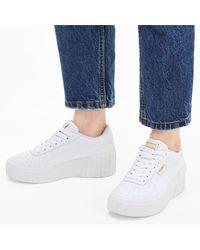 PUMA Chaussure Basket Cali Wedge - Blanc