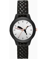PUMA Reset Knit Uhr - Schwarz