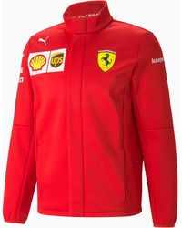 PUMA Ferrari Team Softshelljacke - Rot