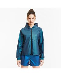 PUMA - Warm-Up Shimmer Trainingsjacke mit Kapuze - Lyst