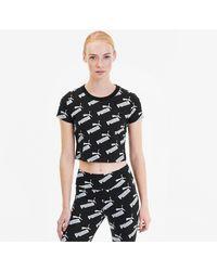 PUMA Amplified Aop Fitted T-shirt - Zwart