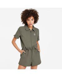 PUMA Tuta jumpsuit Classics Woven - Verde