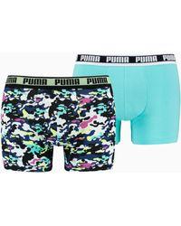 PUMA Camo Boxershorts 2er Pack - Blau