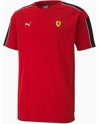 PUMA Scuderia Ferrari Race T7 T-Shirt - Rot