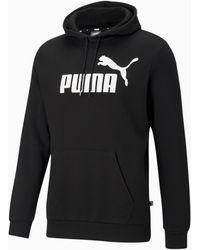 PUMA Essentials Big Logo Fleece Hoodie BT - Noir