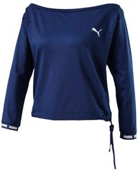 PUMA X Pamela Reif Off-shoulder Sweater - Blauw