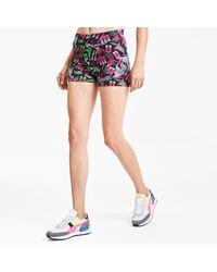 PUMA Micro shorts Sport donna con stampa su tutta la superficie - Blu