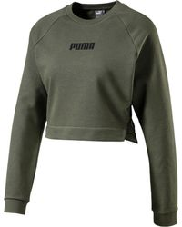 PUMA X Pamela Reif Lace-up Cropped Sweater - Bruin