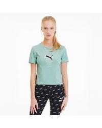 PUMA Tailored for Sport Graphic Crop Top - Grün