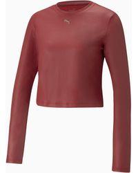 PUMA Moto Fitted Langarm-Trainingsshirt für - Rot
