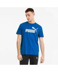 PUMA - Essentials Herenshirt Met Logo - Lyst