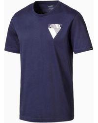 PUMA Graphic Brand T-Shirt - Blau
