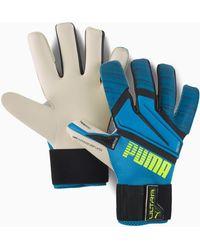 PUMA Ultra Grip 1 Hybrid Pro Goalkeeper Gloves - Blue