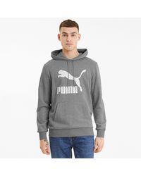 PUMA Classics Logo Hoodie - Grau