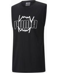 PUMA Triple Double Basketbal-tanktop Heren - Zwart