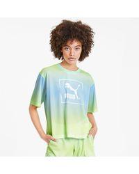 PUMA Tie Dye Mesh T-Shirt - Mehrfarbig