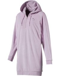 PUMA - Downtown Long Sleeve Hooded Women's Dress - Lyst