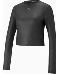 PUMA Moto Fitted Langarm-Trainingsshirt für - Schwarz
