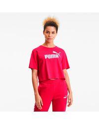 PUMA - Cropped Logo T-Shirt - Lyst