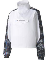 PUMA Bmw M Motorsport Street Half-zip Jacket - White